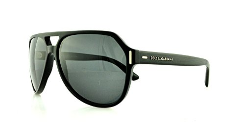 Dolce & Gabbana DG4224 Sunglass-282087 Brushed Black (Gray - For Glasses Men Gabbana Dolce
