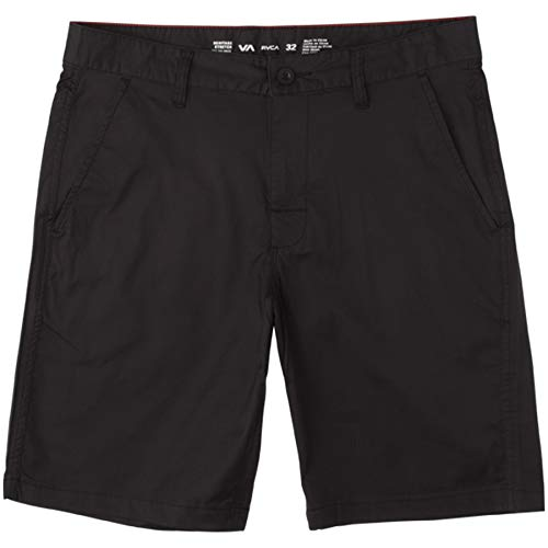 (RVCA Weekend Hybrid Shorts Boardshorts/Walkshorts Trunks (Black, 36))