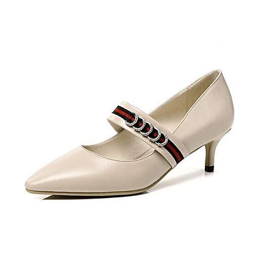 ZHZNVX Heel Almond Pump Stiletto Spring de Zapatos Poliuretano Black Basic Mujer PU Black Tacones rArF1q