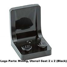 Lego Parts: Minifig, Utensil Seat 2 x 2 (Black)