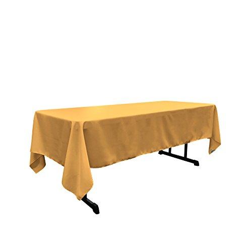 (LA Linen Polyester Poplin Rectangular Tablecloth 60