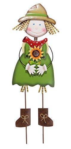 Miles Kimball Scarecrow Girl Yard Stake by Maple Lane Creations