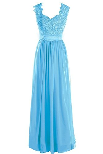 Fanciest Damen A Linie Blau Kleid UUrqp