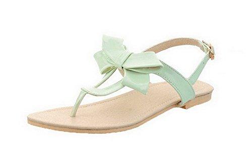 con Agoolar verde Gmxla007716 in fibbia sandali con verniciata vestito per pelle tacco Mini pT0qP57w7