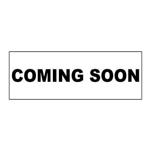 (Coming Soon Black METAL ALUMINUM Real Estate Rider Sign - 1 or 2 Side Print /6 in x 24 in Two Side Print)
