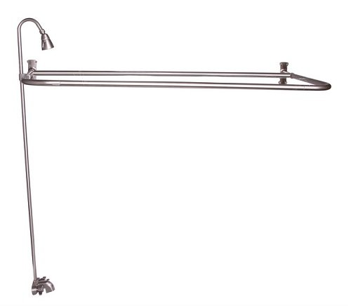 """Price comparison product image Barclay 4193-60-BN Converto Shower with 60"""" D-Rod,  Faucet,  Riser,  Brushed Nickel"""