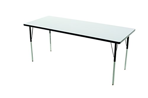 (AmTab - WAA305D - Whiteboard/Markerboard Dry Erase Table, Activity Legs, Rectangle, 30