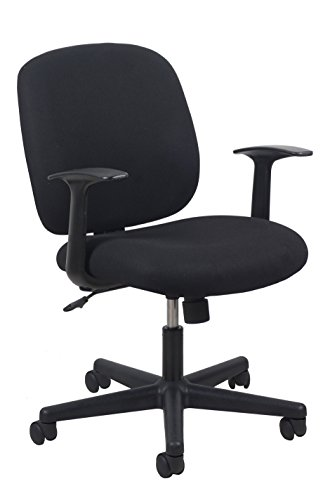 Essentials Swivel Upholstered Task Chair with Arms - Ergonomic Computer/Office Chair (ESS-3070)