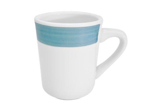 CAC China R-17-BLUE Rainbow 3-1/4-Inch Blue Stoneware Tierra Mug, 8.5-Ounce, Box of 36