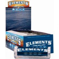 ELEMENTS PAPER ROLLING MACHINE 79MM BOX OF 12 with BakeBros Silicone Container and Sticker Assorted Colors