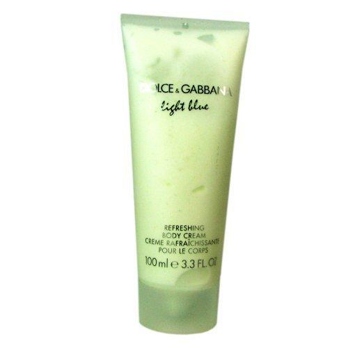 Gabbana Body Cream (Dolce and Gabbana Light Blue Body Cream for Women, 3.3 Ounce)