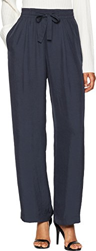Vince Women's Tie Front Wide Leg Pants, Coastal, Medium