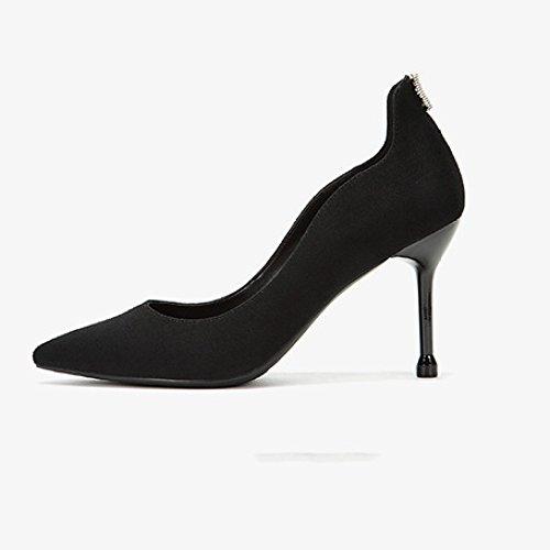 37 Commuting Noir WeddingDaphne Travail Élégant Cour 4 Hauts Nightclub Party Chaussures EU De Femme UK Sexy Black Mode 9cm 5 Chaussures Talons UqdAvwxvg
