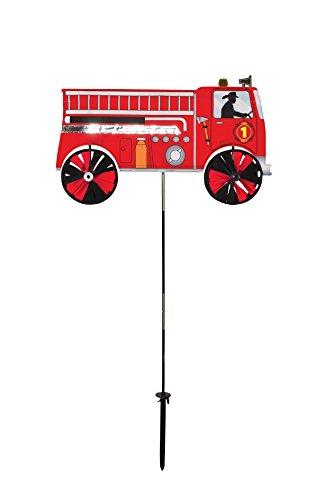 In the Breeze 2509 Fire Truck Ground Spinner-Garden Decoration