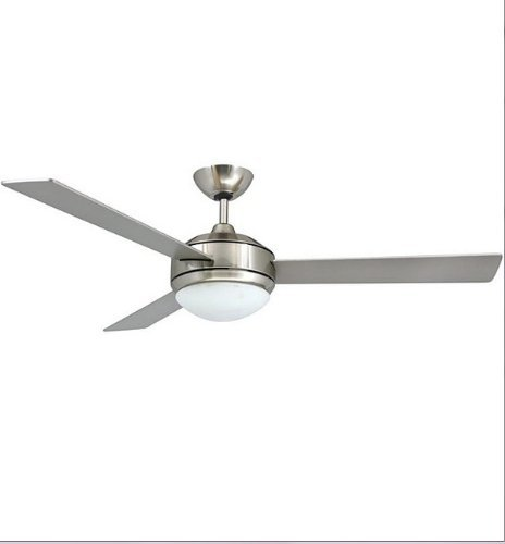 (Ceiling Fan- This is the Contemporary 52-inch Brushed Nickel 2-light Ceiling Fan! Ceiling Fans with two lights with a white opal glass shade!Guaranteed!)
