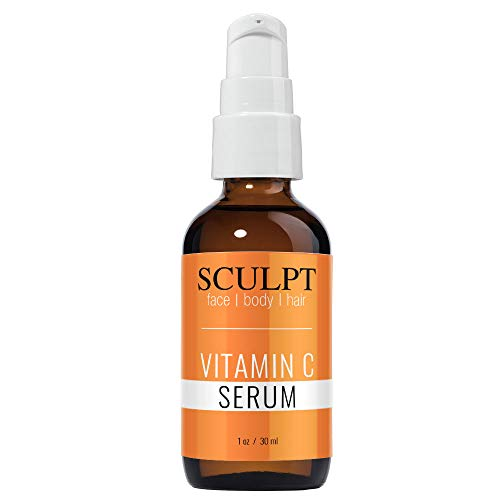 Sculpt Natural Vitamin C Anti-Aging Face Serum, Promotes Rejuvenated Skin, Targets Age Spots and Sun Damage, Enhances Tone and Texture, Face Skin Treatment Serum for All Skin Types 1oz / 30ml