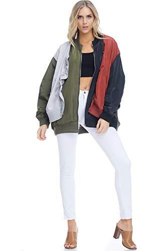- Tov Color Blocked Casual Jacket Olive