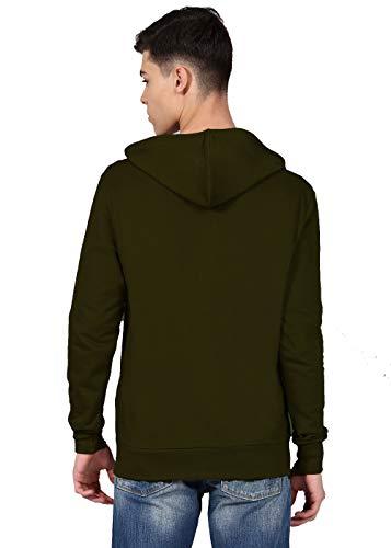 RODID Mens Solid Full Sleeve Zipper Cotton Sweatshirt