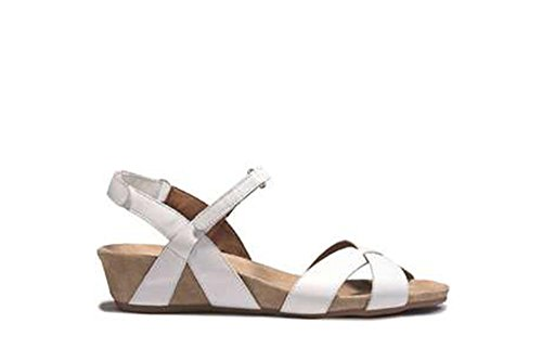 BENVADO VIOLA white leather women's sandals 280041400 zeppetta snags Bianco irgroB