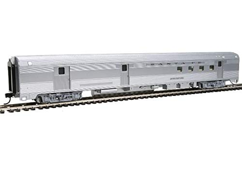 Car Baggage Streamlined - Walthers 85' Budd Baggage-Railway Post Office - Ready to Run -- Santa Fe (Silver)