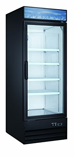 - Large Capacity Upright Commercial Glass Door Display Cooler & Refrigerator, 23 CU Ft.