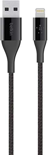 (Belkin MIXIT Duratek Kevlar Lightning to USB A Cable - Apple MFi Certified - Black - 4 Feet/1.2 Meters)