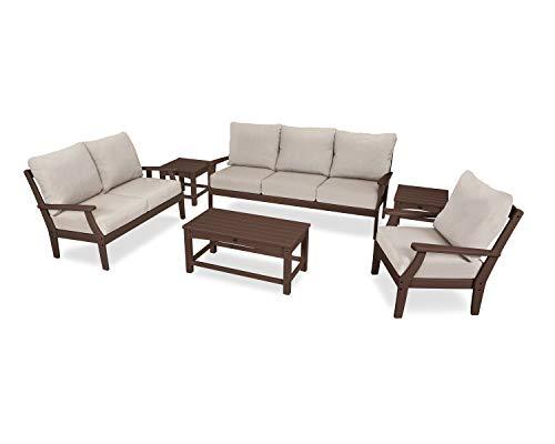 Trex Outdoor Furniture Yacht Club Deep Seating Set, Vintage Lantern/Cast Ash