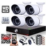 ANRAN 4CH AHD DVR Analog High Definition(AHD) HD AHD IR-CUT 1.3MP 960P Cameras H.264 Outdoor Security Surveillance Camera System