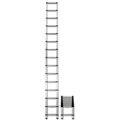 Aluminum Telescopic Extension Ladder, 18 ft, 300lb ()