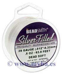 Wire Soft Dead (Silver Filled Wire - 20 Gauge Dead Soft Round - 0.5oz (9.38ft) by Beadsmith)