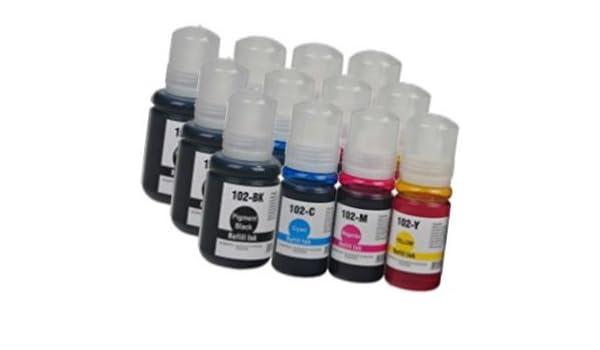 3X Set] 12 Cartuchos de Tinta compatibles para EPSON EcoTank ET ...
