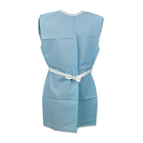 WP000-PT 918507 918507 Gown Exam 3 Ply Tissue 42x30'' Front/ Back Opening Blue 50/Ca Tidi Products LLC