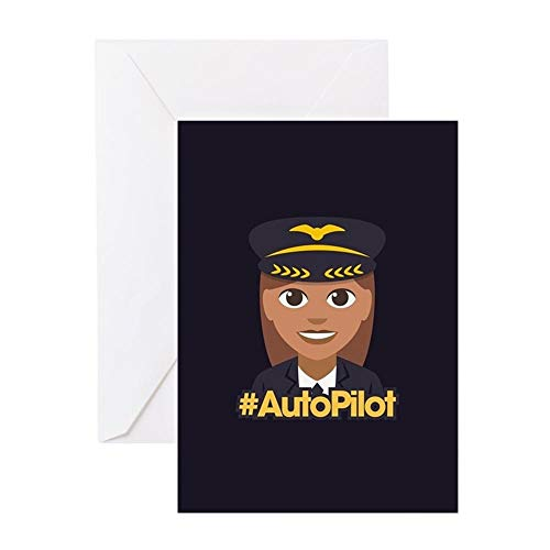 (CafePress Hashtag Autopilot Greeting Card (20-pack), Note Card with Blank Inside, Birthday Card Matte)