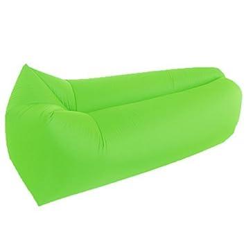 iskip inflable tumbona, impermeable sofá, sofá, silla de dormir camas de aire portátil para interior y ...