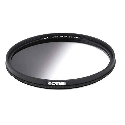 Zomei 49/52/58/67/72/77MM Graduated Grey Neutral Optical Camera Filter