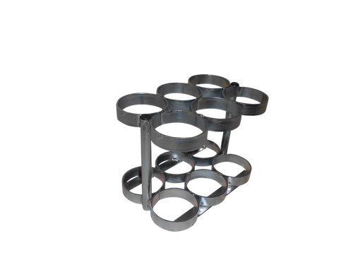 Oxygen Cylinder Rack (FWF 6 Oxygen Tank Cylinder Rack (Sizes, M6)- Made in)
