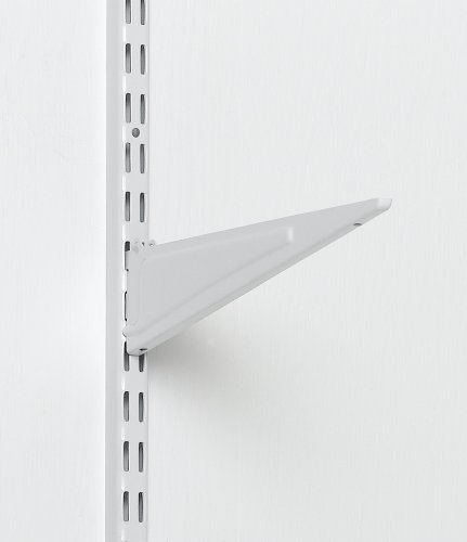 Amazon ClosetMaid 2853 ShelfTrack 12 Inch Locking Shelf Bracket White CLOSETMAID Home Kitchen