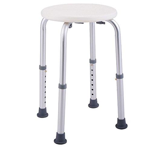 White Bath Shower Medical Chair Stools Bench Bathtub Stool Polyethylen
