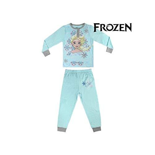 Pijama niña Frozen celeste dos piezas (3)