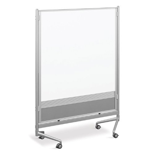 (Best-Rite DOC Mobile Whitebooard Room Partition and Display Panel, Dura-Rite Markerboard & Natrural Cork, 4 x 4 Feet (661AD-HC))