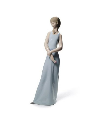 Lladro Lady of the Rose, Blue