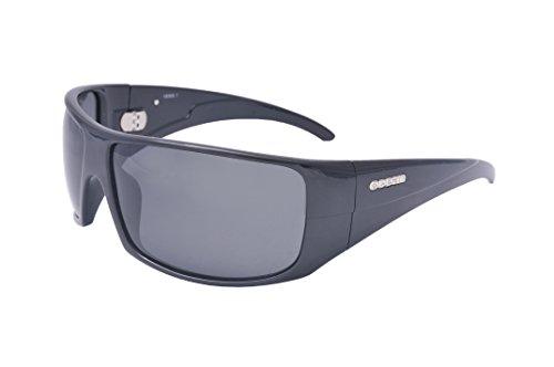 Ocean Sunglasses Brasilman Lunette de Soleil Mixte Noir Laqué