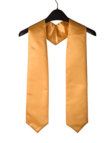Unisex Adult Plain Graduation Stole For Academic Commencements For High School, College And University, 60