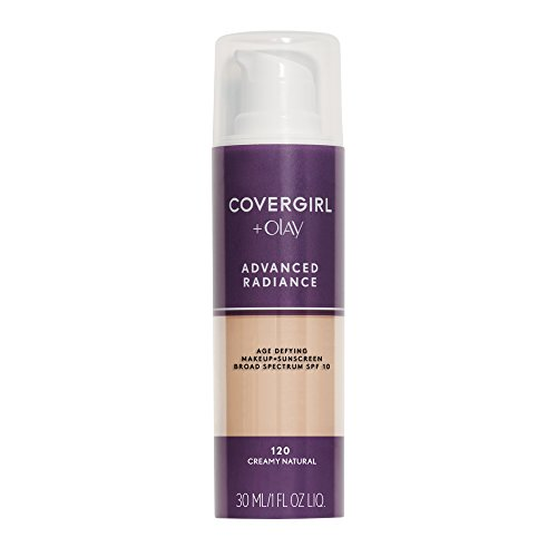 COVERGIRL Advanced Radiance Age Defying Foundation Makeup Creamy Natural, 1 oz