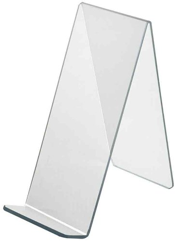 Azar Displays 515445 4.5-Inch Width by 9.5-Inch Depth by 10.5-Inch Height Acrylic Easel Display, 10- Pack