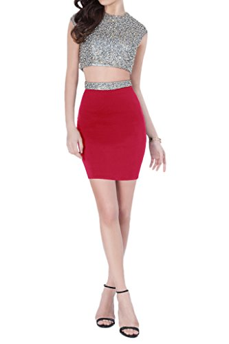 Piece Sequins Two Glamorous Homecoming Avril Dress Dress Cocktail Mini Red Length Ezw6tqP6