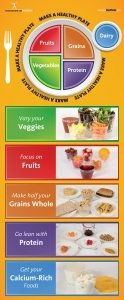 Adult MyPlate Brochure Cards - Packet of - Food Cards Nutrition Fun