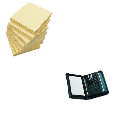 KITUNV25650UNV35668 - Value Kit - Universal Zip-Around Padfolio (UNV25650) and Universal Standard Self-Stick Notes (UNV35668)