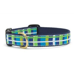 Newport Plaid Quick Release Dog Collar - X-Small (6-12 Inches) - 5/8 In Width