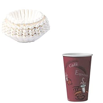 KITBUN1M5002SLOOF16BI0041 - Value Kit - Solo Bistro Design Hot Drink Cups (SLOOF16BI0041) and Bunn Coffee Commercial Coffee Filters (BUN1M5002)